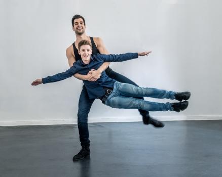 Christian Fröhlich (Hermann) und Matti Reiser (Peter)