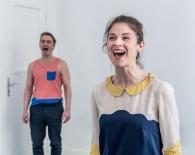 Arne David (Manuela) und Lucy Scherer (Heike)